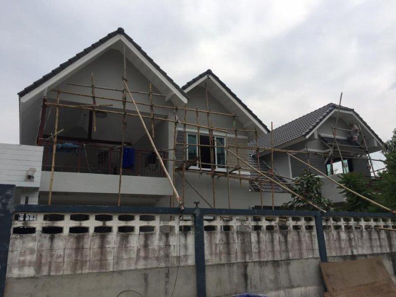 หลังทำงานโครงหลังคาเหล็ก ทำโครงหลังคาเหล็กตัวบ้านใหม่