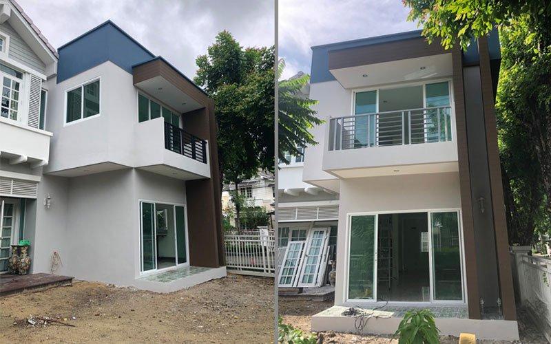 งานสร้างบ้าน 2 ชั้นในบริเวณบ้านเดิม
