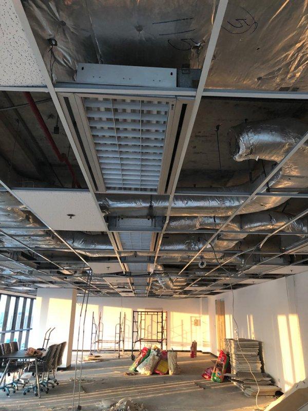 ก่อนทำงานฝ้าเพดาน ติดตั้งฝ้าแขวนเพดานใหม่