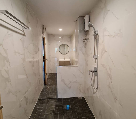 สร้างห้องน้ำเรียบร้อย